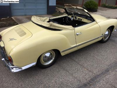 Original CA Manila Yellow 1963 Ghia Convertible