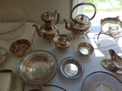 IMPORNT ATLANTA ESTATE HEAVY STERLING COFFEE TEA SET, DIAMOND LADIES MENS WATCHS, VINTAGE JEWELRY,