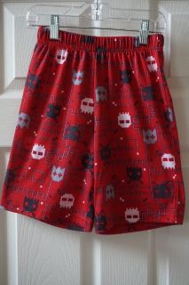 Boys Faded Glory Red Video Game Pajama Shorts Size 6/7