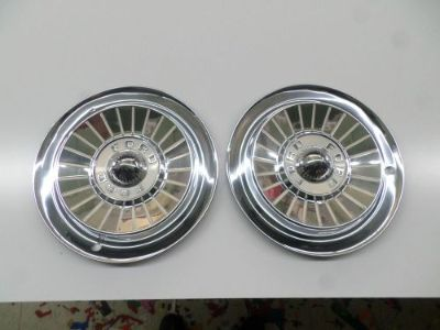 """Sell Two 1957 Ford 14"""" Wheel Covers Hubcaps NICE DRIVER QUALITY motorcycle in Baxley, Georgia, United States, for US $39.99"""