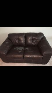 Leather loveseat from Ashley