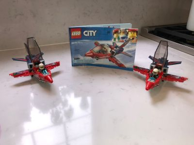 2 LEGO City Airshow Jet 60177 Building Kits
