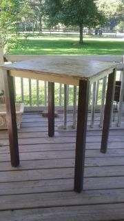 Solid Wood Counter Bar Height Dining Pub Table