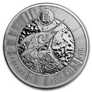 2018 Cayman Islands 1 oz Silver Marlin BU