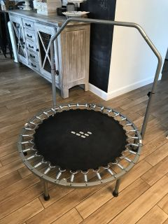 40 trampoline with bar