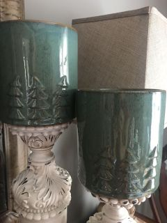 LIKE NEW CRATE & BARREL CANDLE HOLDERS(2) FOR ONE PRICE!! 8 in tall x 5 in wide