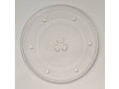 "9 7/8"" Diameter Microwave Clear Glass Plate Round Turntable"