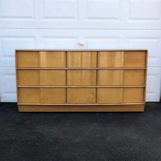 Mid Century 9 Drawer Dresser by Heywood Wakefield
