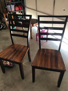 2 dining room table chairs