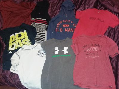 Boys size 10/12 tops. 8 tops total