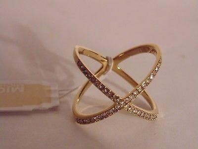 Authentic Genuine Michael Kors cross paved Ring (Brand new)