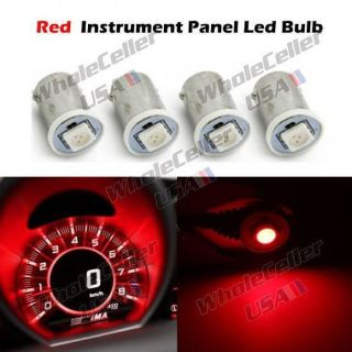 Purchase 4pcs Red LED Bulbs For Car Instrument Dashboard Lights Replacements 12V motorcycle in Milpitas, California, United States
