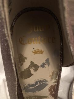 Juicy Couture gold glitter heals