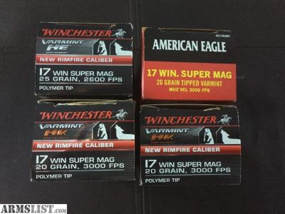 For Sale/Trade: 17 WSM Ammo - 188 rounds