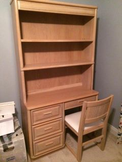 $80, Great Desk with Bookcase and Chair