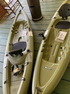 2 Pair Fishing Kayaks New!