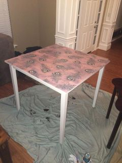$500, Refurbished dining room table