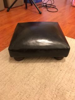 Small ottoman faux leather