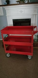 Mechanics cart, 3 shelves, 30inx 16in x 32 high (excluding handle) - XPOSTED