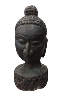 Antique Buddha Head Statue Meditation Yoga Studio Decor