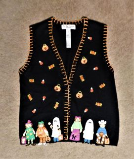 Vest Halloween with Covered Buttons