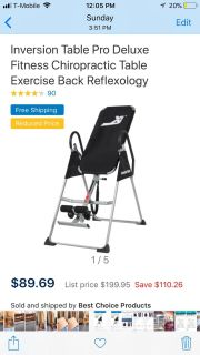 Brand New! Still in box! Weslo inversion table