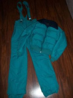 VINTAGE ROFFE WOMEN'S SIZE 12 SNOW SKI MATCHING SET BIBS AND JACKET