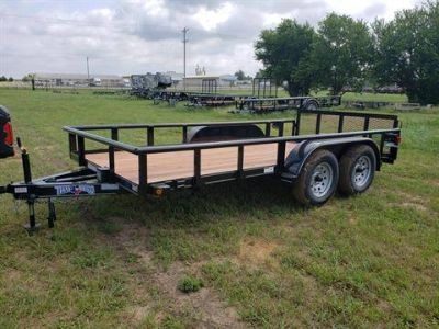 2019 Texas Bragg 14' TANDEM Utility Trailers Durant, OK