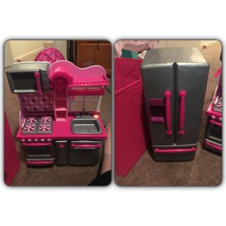 Our Generation/American Girl sized stove and fridge