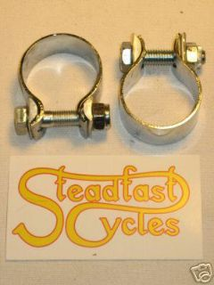 "Purchase TRIUMPH NORTON BSA 1 3/4"" exhaust muffler CLAMPS UK motorcycle in Canyon Country, California, US, for US $25.00"