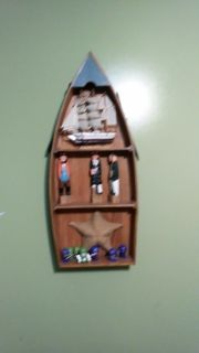 Boat with paddles and decor