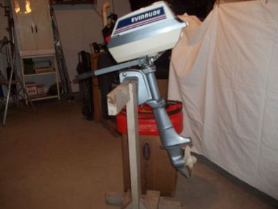 Sell 4 H.P. Evinrude outboard motor,carburetor, rebuilt,tank,stand, $225. motorcycle in Wautoma, Wisconsin, United States, for US $225.00