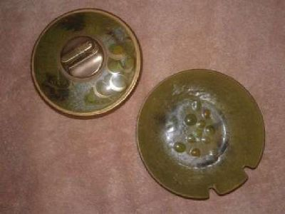 Sascha B. Lighter & Ashtray. Vintage(70yrs) Signed & Rare