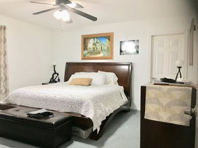Frame and King Mattress-Bought it at Ashley Furniture
