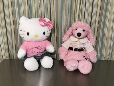 EUC. 2 plush animals w/outfits from Build A Bear $10/each