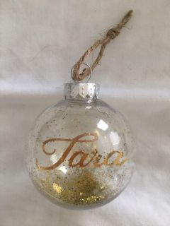 Gold personalized ornament