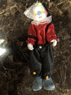 5 Different Porcelain Doll Clowns CHOICE