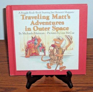 Vintage 1984 Traveling Matts Adventures In Outer Space Hard Cover Book Muppets