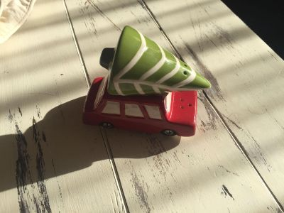 Brand New Christmas Car and Tree Salt and Pepper Shakers
