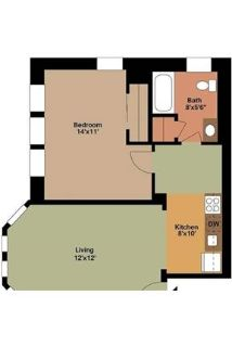 Apartment in quiet area, spacious with big kitchen