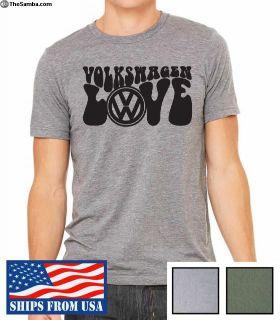 Volkswagen Beetle T-Shirt LOVE Green/Gray XMAS