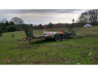 GOOSENECK TRAILER, 16', HURST, DUAL 3500LB AXLES, ...