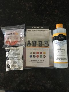 Keurig Descaling Solution, Filter, Brewer Maintenance accessory, and User s Guide