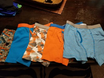 Boys large boxers, 5 pairs, $5.00