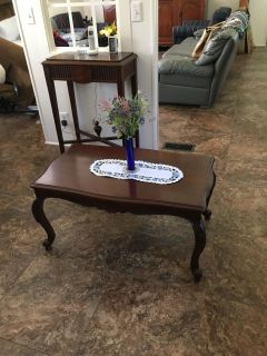 Antique Carved Rosewood Coffee Table