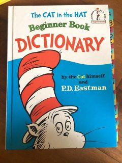 Dr. Seuss The Cat in the Hat Beginner Dictionary! Great Condition! Has Side Tabs for each Letter! Large Hardcover