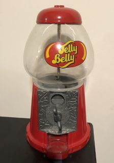 "11"" Jelly Belly Diecast Bean Machine Dispenser Glass Dome Coin Operated"
