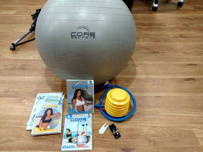 Core Secrets exercise ball with videos