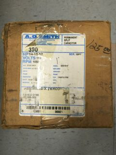 AO Smith Electric Motor 390 1/4, 1/5, 1/7 hp, 1050 rpm **New in the box**