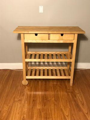 Ikea FORHOJA Kitchen Cart - Birch